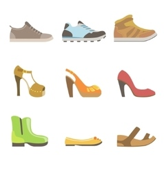 Different Shoes Set vector