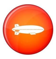 Dirigible balloon icon flat style vector