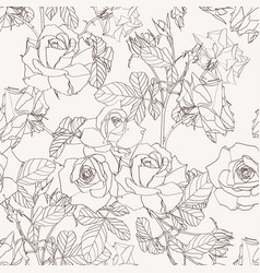 Elegant seamless pattern with roses flowers vector