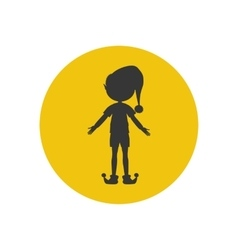 Elf silhouette icon vector