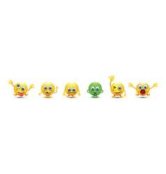 emoji line vector image