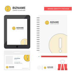error business logo tab app diary pvc employee vector image