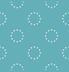 european union pattern seamless blue vector image