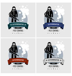 exterminator logo design artwork of pest control vector image