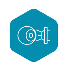 Eyeball laser inspection icon outline style vector