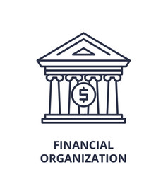 financial organization line icon concept vector image