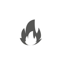 fire icon flat black pictogram vector image
