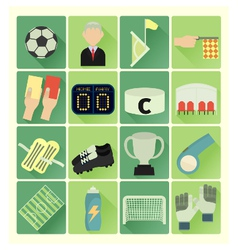 flat icons soccer vector image