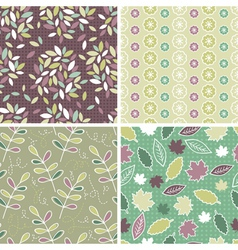 Floral Patterns and seamless backgrounds vector