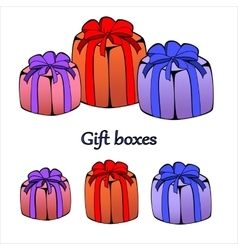 Gift or present boxes with outline vector