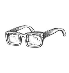 glasses vision correction accessory retro vector image