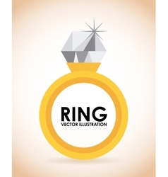 Golden ring vector