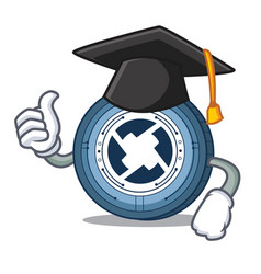 Graduation 0x coin character cartoon vector