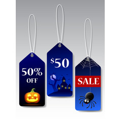 Halloween tags promotion vector