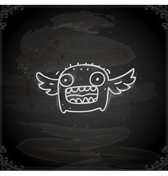 Hand Drawn Creature with Wings vector