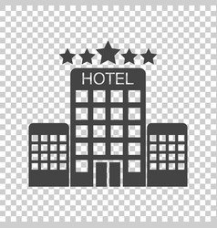 hotel icon on isolated background simple flat vector image