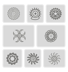 Icons with American Indians art vector
