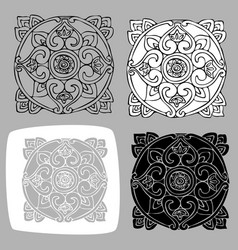 Image of elements of oriental style vector