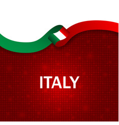 Italy sport style flag ribbon particle style vector