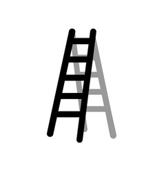 ladder graphic design element isolated vector image