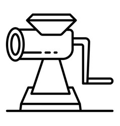 manual meat grinder icon outline style vector image