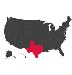 Map of usa - texas vector