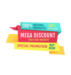 Mega discount only this month vector
