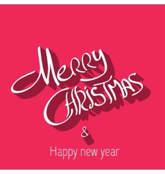 Merry Christmas typography handwriting vector image