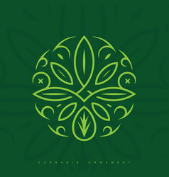 modern professional logo ornament in green theme vector image