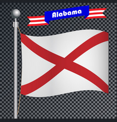 national flag of alabama vector image