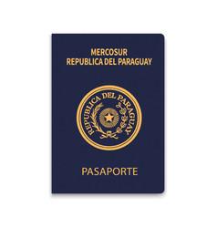 Passport paraguay citizen id template vector