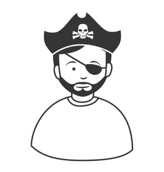 Pirate male hat icon vector