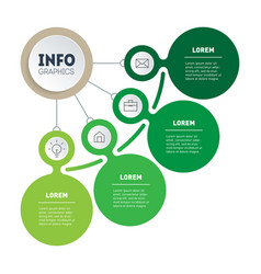 Presentation green business or info graphics vector