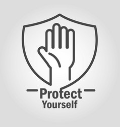 Protect yourself prevention stop covid 19 vector