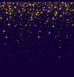 Purple shiny background with golden sparkling vector