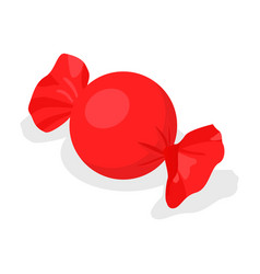 Red bonbon icon isometric style vector