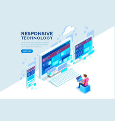 Responsive technology vector