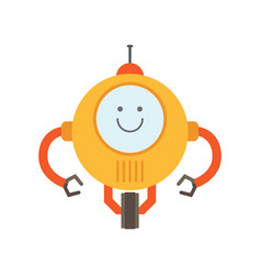 Robot of yellow color smile vector