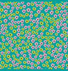 seamless pattern background with simple flower vector image