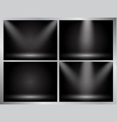 set of clear empty studio light dark backgrounds vector image