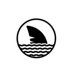 shark fin icon on isolated white background eps 10 vector image