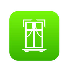 sill window frame icon green vector image