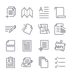 Simple set of document icons contains such icons vector