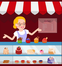 Small pastry business flat vector