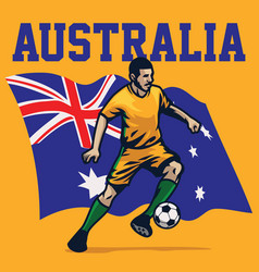 Soccer player of australia vector