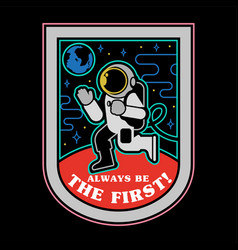 space man on mars patch sticker print vector image