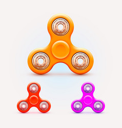 spinner color collection relief toy object icons vector image