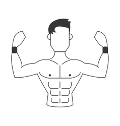 strong man icon vector image