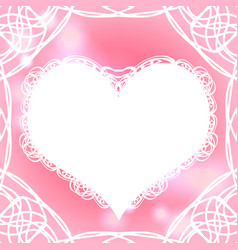 template for valentines day card vector image