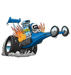 top fuel dragster cartoon vector image